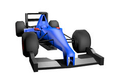 Het blauw geeft auto terug Stock Fotografie