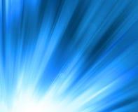 Het blauw glanst - abstracte achtergrond Stock Foto
