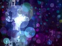 Het blauw glanst de slagenachtergrond van de cirkelborstel Stock Fotografie