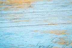 Het blauw schilderde en kraste houten textuur Stock Fotografie