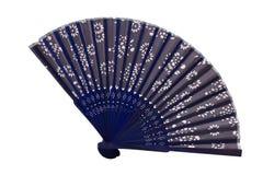 Het blauw spaned ventilator Royalty-vrije Stock Afbeeldingen