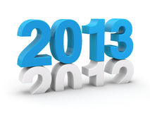 het blauw van 2013 Stock Foto's