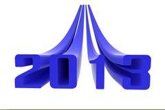 het blauw van 2013 Stock Foto