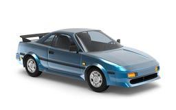 Het blauw van auto 1980 cyberpunk stock illustratie