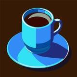 Het blauw van Coffecup Royalty-vrije Stock Foto