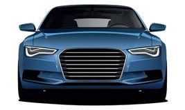 Het blauw van de auto Stock Fotografie