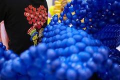 Het blauw van de ballondecoratie Royalty-vrije Stock Fotografie