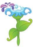 Het blauw van de bloem Stock Foto