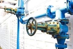 Het blauw van de controleklep Stock Foto's