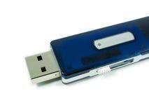 Het blauw van de de penaandrijving van het geheugen Stock Fotografie