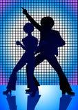 Het Blauw van de disco Royalty-vrije Stock Foto