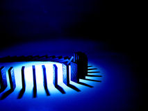 Het blauw van de domino Royalty-vrije Stock Fotografie