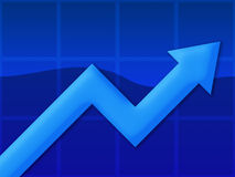 Het Blauw van de grafiek Royalty-vrije Stock Afbeelding