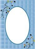 Het blauw van de kaart stock illustratie