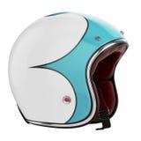 Het blauw van de motorfietshelm Stock Afbeeldingen