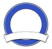 Het blauw van de plaque royalty-vrije illustratie