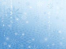 Het Blauw van de Sneeuwvlokken van de fonkeling vector illustratie