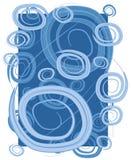 Het Blauw van de Spiralen van de Cirkels van wervelingen stock illustratie