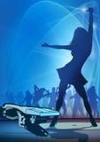 Het Blauw van de Vlieger van de partij Royalty-vrije Stock Afbeelding