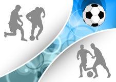 Het blauw van de voetbal Stock Fotografie