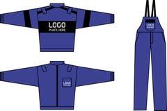 Het blauw van de werkkledij royalty-vrije illustratie