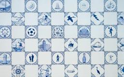 Het blauw van Delft stock fotografie