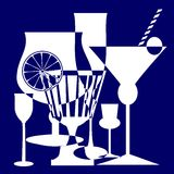 Het blauw van dranken Stock Foto