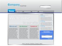 Het blauw van het bedrijfswebsitemalplaatje Royalty-vrije Stock Afbeeldingen