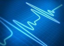 Het blauw van het cardiogram Stock Afbeelding