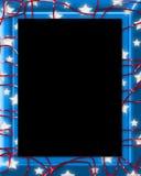 Het Blauw van het Frame van de ster Stock Afbeelding