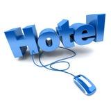 Het blauw van het hotel online vector illustratie