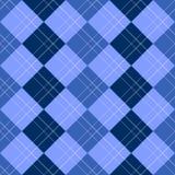 Het Blauw van het Patroon van Argyle Royalty-vrije Stock Afbeeldingen