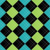 Het Blauw van het Patroon van Argyle Stock Afbeelding