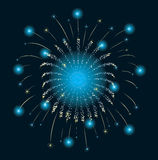 Het blauw van het Vuurwerk van het nieuwjaar Royalty-vrije Stock Foto