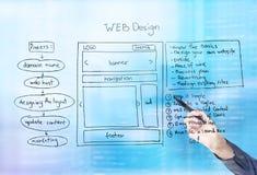 Het blauw van het Webontwerp Royalty-vrije Stock Foto