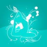 Het Blauw van Ligth van de yoga [01] Stock Foto's