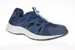 Het blauw van mensen` s schoenen Stock Afbeeldingen