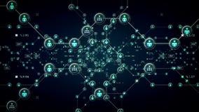Het Blauw van mensennetwerken stock illustratie