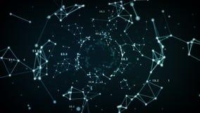 Het Blauw van netwerkgegevens royalty-vrije illustratie