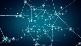 Het Blauw van netwerkknopen vector illustratie