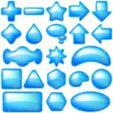 Het blauw van pictogrammenknopen, reeks Stock Afbeeldingen