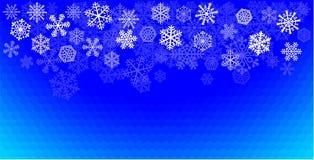 Het blauw van sneeuwvlokken Stock Afbeeldingen