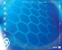 Het Blauw van technologie Royalty-vrije Stock Afbeelding