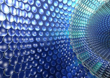 Het Blauw van Technologie Tunel van Cristal Stock Foto