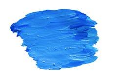Het blauw vergoelijkt, slagen van kleurrijke gouache In water oplosbare textuur als achtergrond stock afbeelding