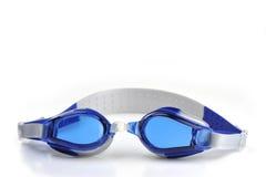 Het blauw zwemt beschermende brillen Royalty-vrije Stock Afbeeldingen