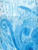 Het blauwe abstracte schilderen Stock Afbeelding