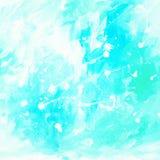 Het blauwe abstracte schilderen voor binnenland met witte vlekken en vlekken, Royalty-vrije Stock Fotografie