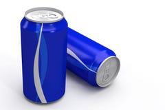 Het blauwe Aluminium kan Royalty-vrije Stock Fotografie