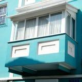 Het blauwe balkon 2011 van tel. Aviv Neve Tsedek Royalty-vrije Stock Foto's